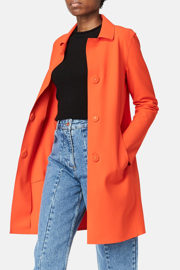 Manteau en tissu technique orange Herno