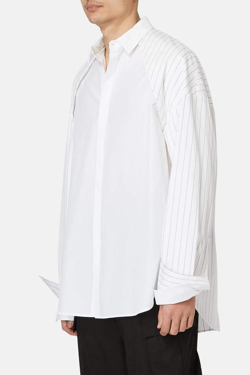 Chemise rayée blanche