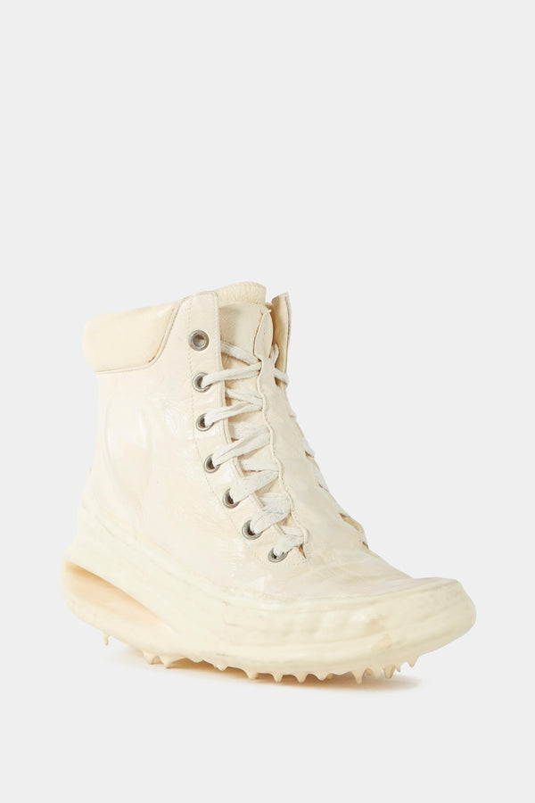 Carol Christian Poell White leather sneakers with melted effect