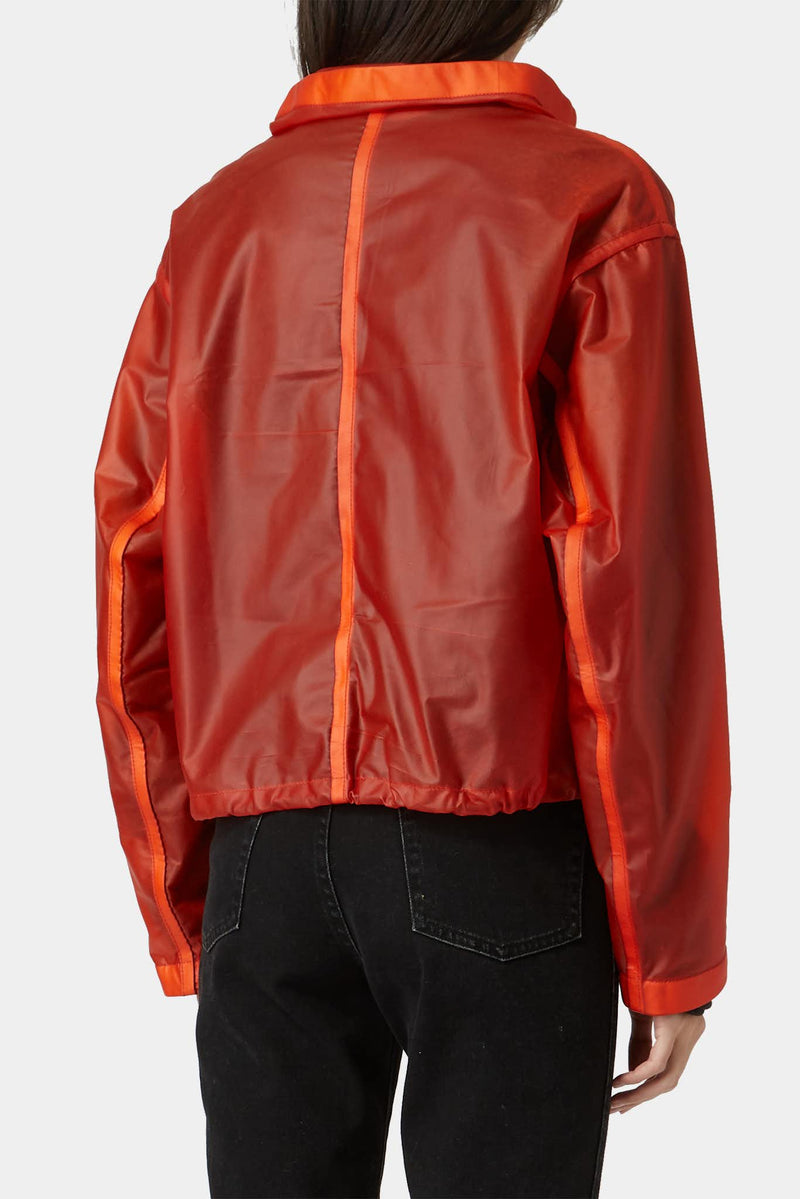 "Veste en cuir orange ""Deconnectée"" Isaac Sellam"