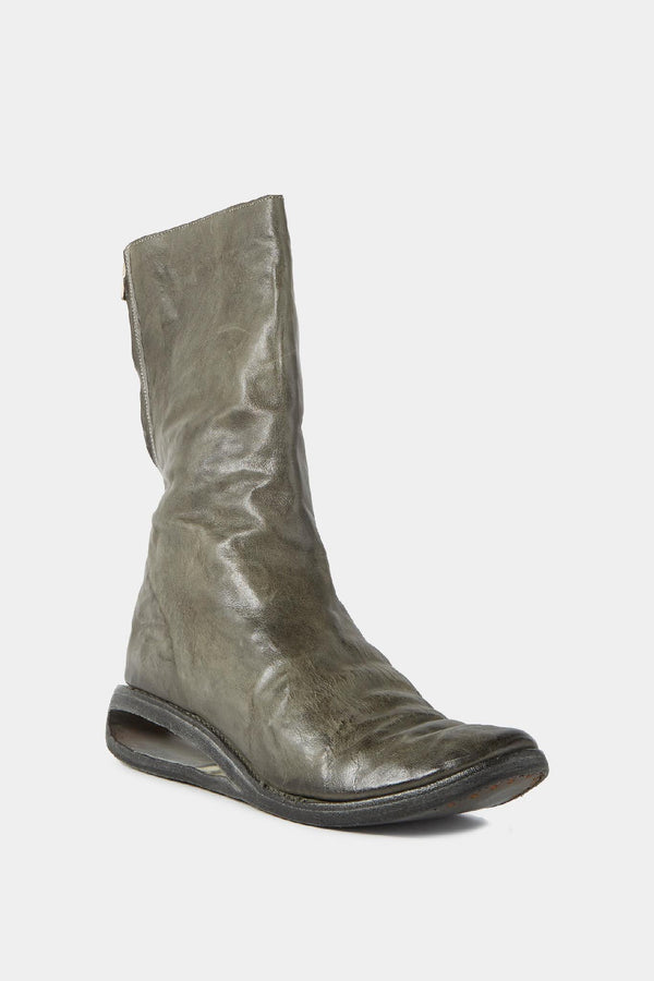Carol Christian Poell Khaki leather boots with cut-out sole