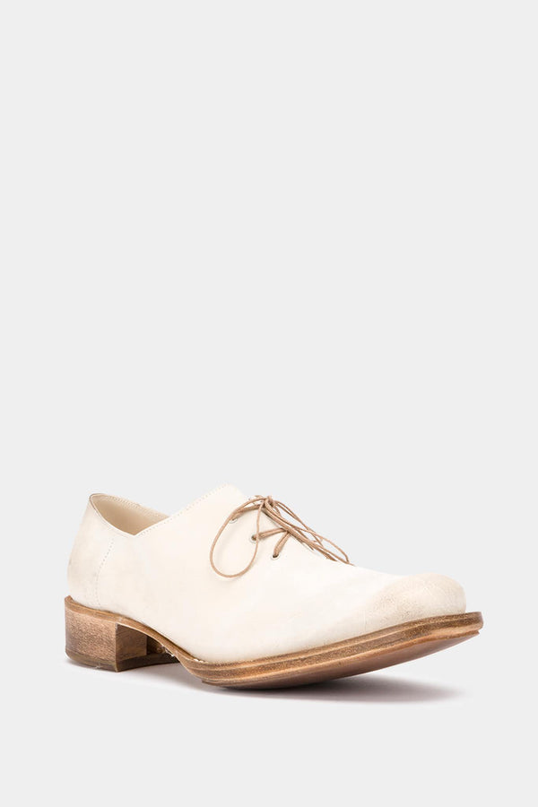 Derbies en cuir blanches