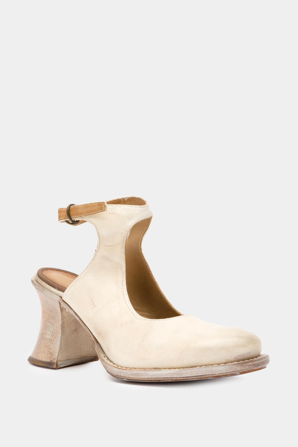 Chaussures en cuir blanches