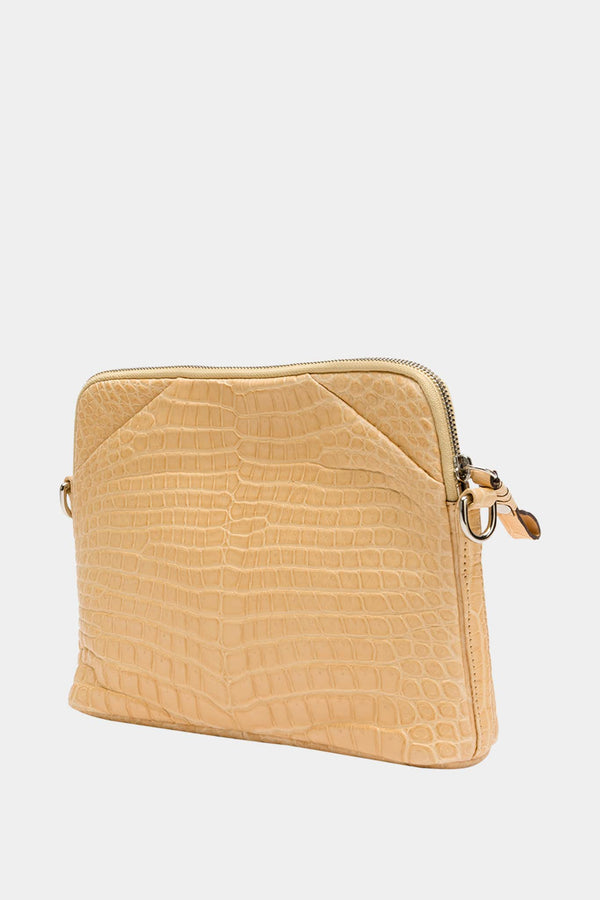 Cornelian Taurus Beige Crocodile Leather Shoulder Bag