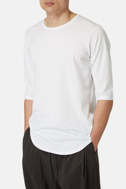 T-shirt blanc en coton Attachment