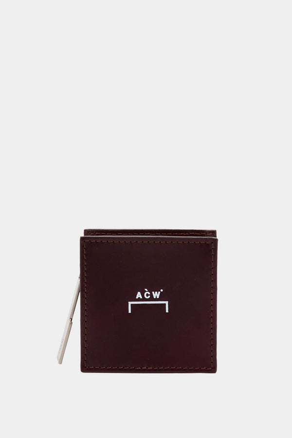 Mini pochette en cuir bordeaux A Cold Wall