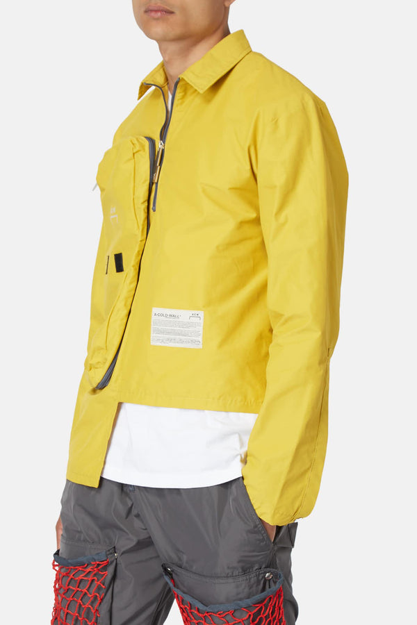 Veste en tissu technique jaune moutarde A Cold Wall