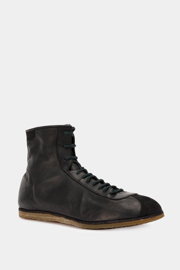 Guidi High black leather sneakers