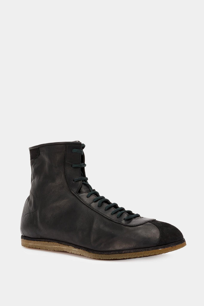 Guidi Baskets hautes en cuir noires