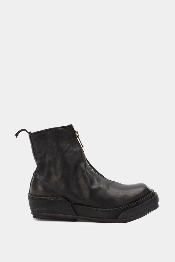 Guidi Bottines en cuir noires