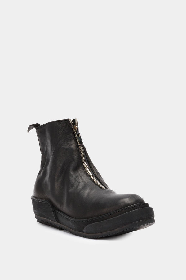 Guidi Black leather ankle boots