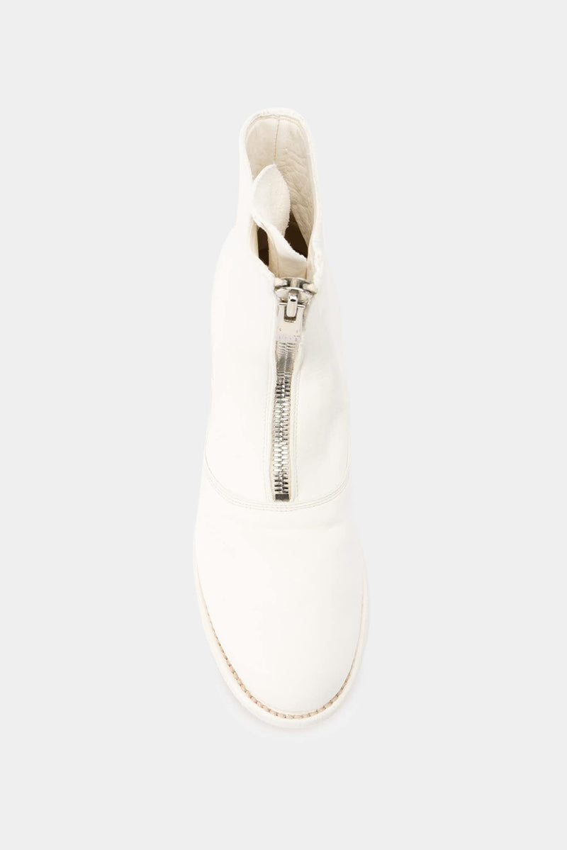 Guidi Bottines en cuir blanches