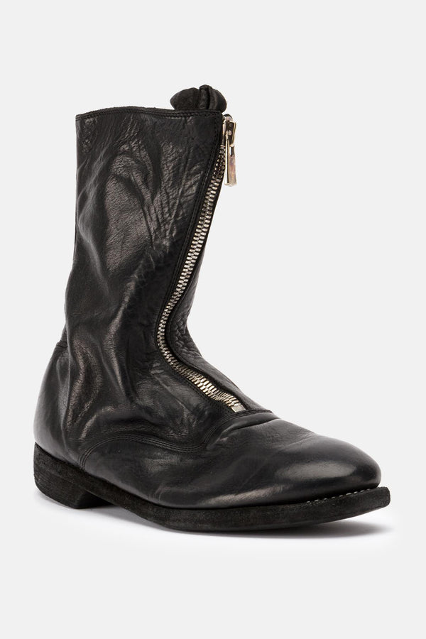 Bottines en cuir noires Guidi