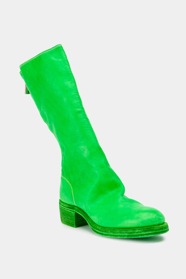 Guidi Neon green leather boots
