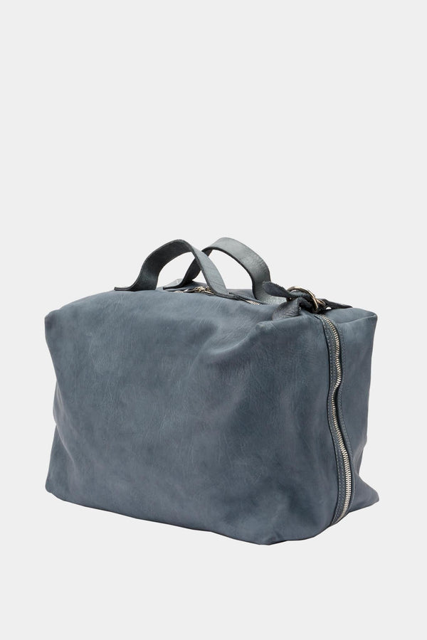 Guidi Blue leather travel bag