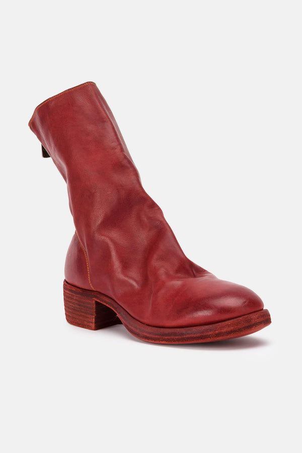 Bottines en cuir rouges