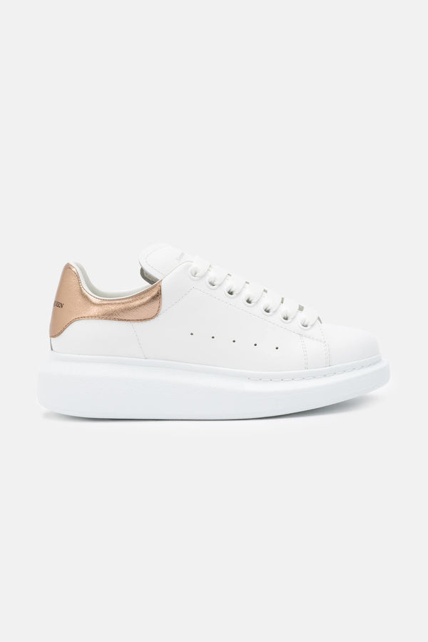 Baskets basses blanches et rose gold