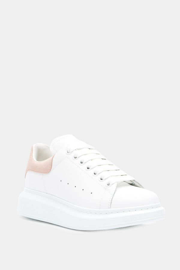 Alexander McQueen White and Powder Pink Low Top Sneakers