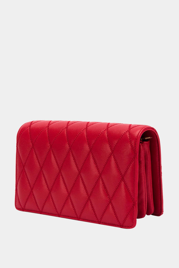 "Saint Laurent Sac en cuir rouge ""Angie"""