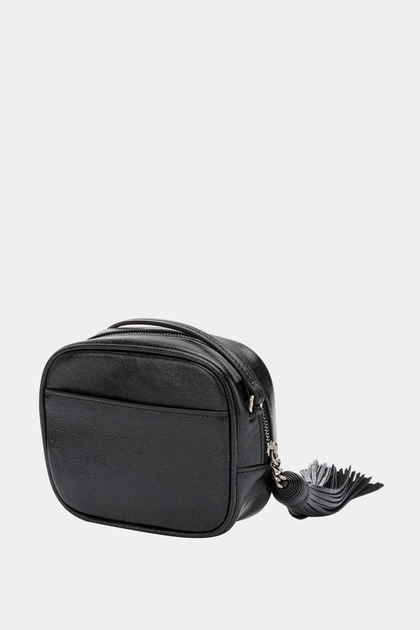 "Saint Laurent Mini sac en cuir noir ""Blogger"""