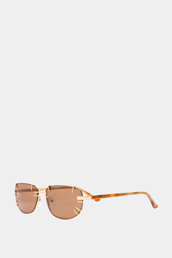 Y / Project Gold Metal Sunglasses