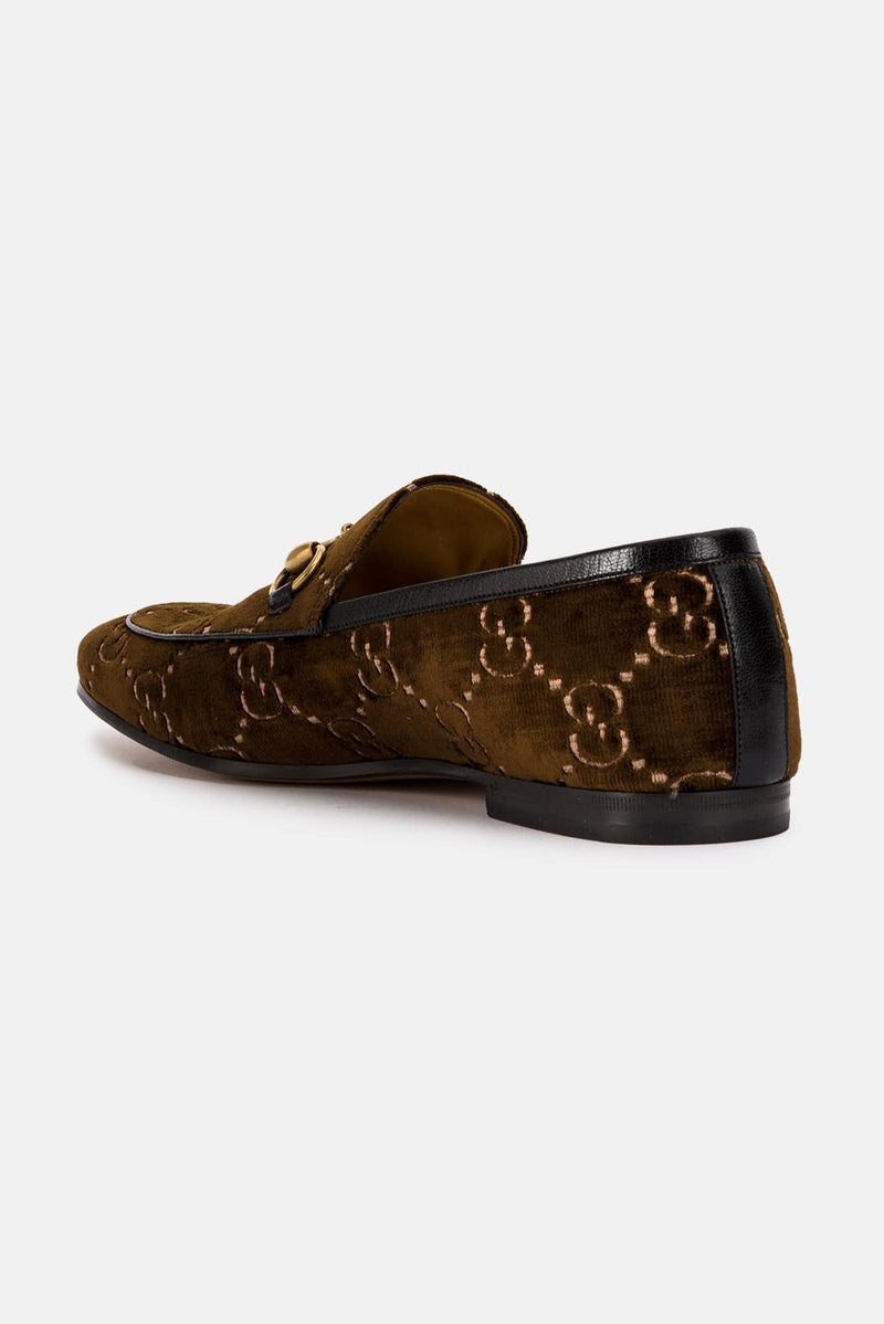 Mocassins en velours GG marron Gucci