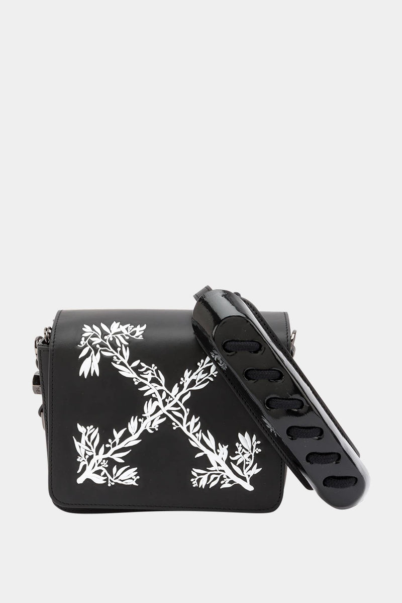 "Off-White Sac porté épaule noir ""Leaves Binder Clip"""