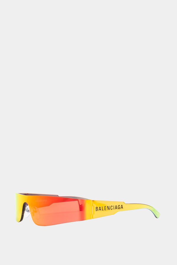 Balenciaga Yellow geometric sunglasses