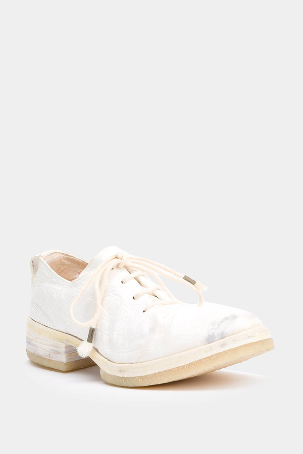 Carol Christian Poell White used-effect derbies