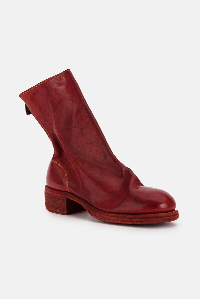 Bottines en cuir rouges Guidi