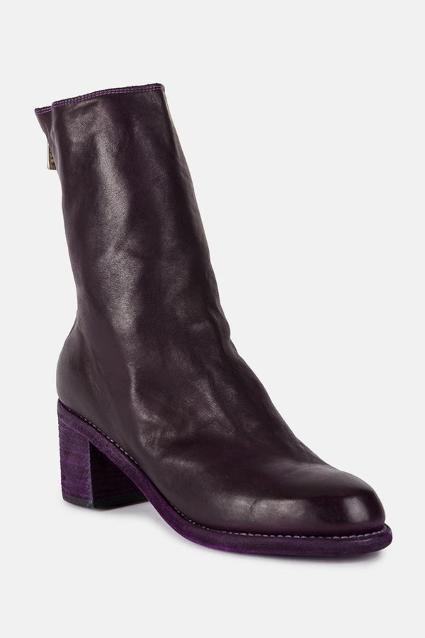 Bottines en cuir violettes
