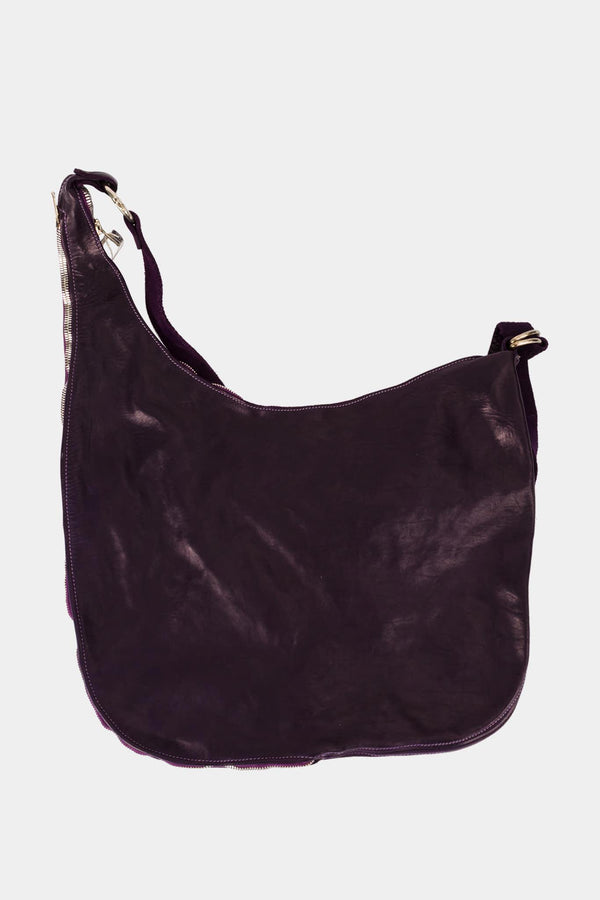 Guidi Shoulder Bag in purple leather