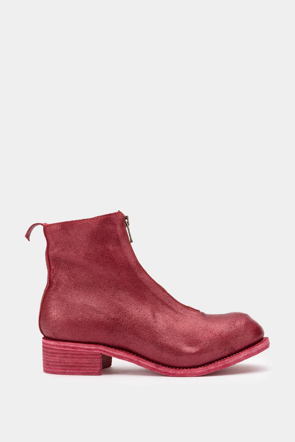 Guidi Bottines pailletés rouges