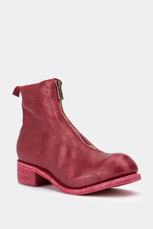 Guidi Red glitter ankle boots