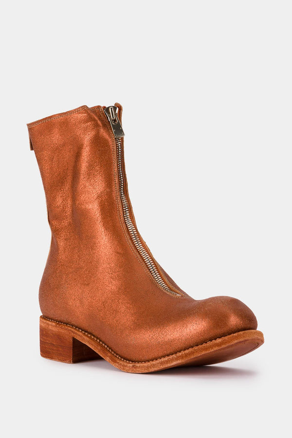 Guidi Copper leather ankle boots