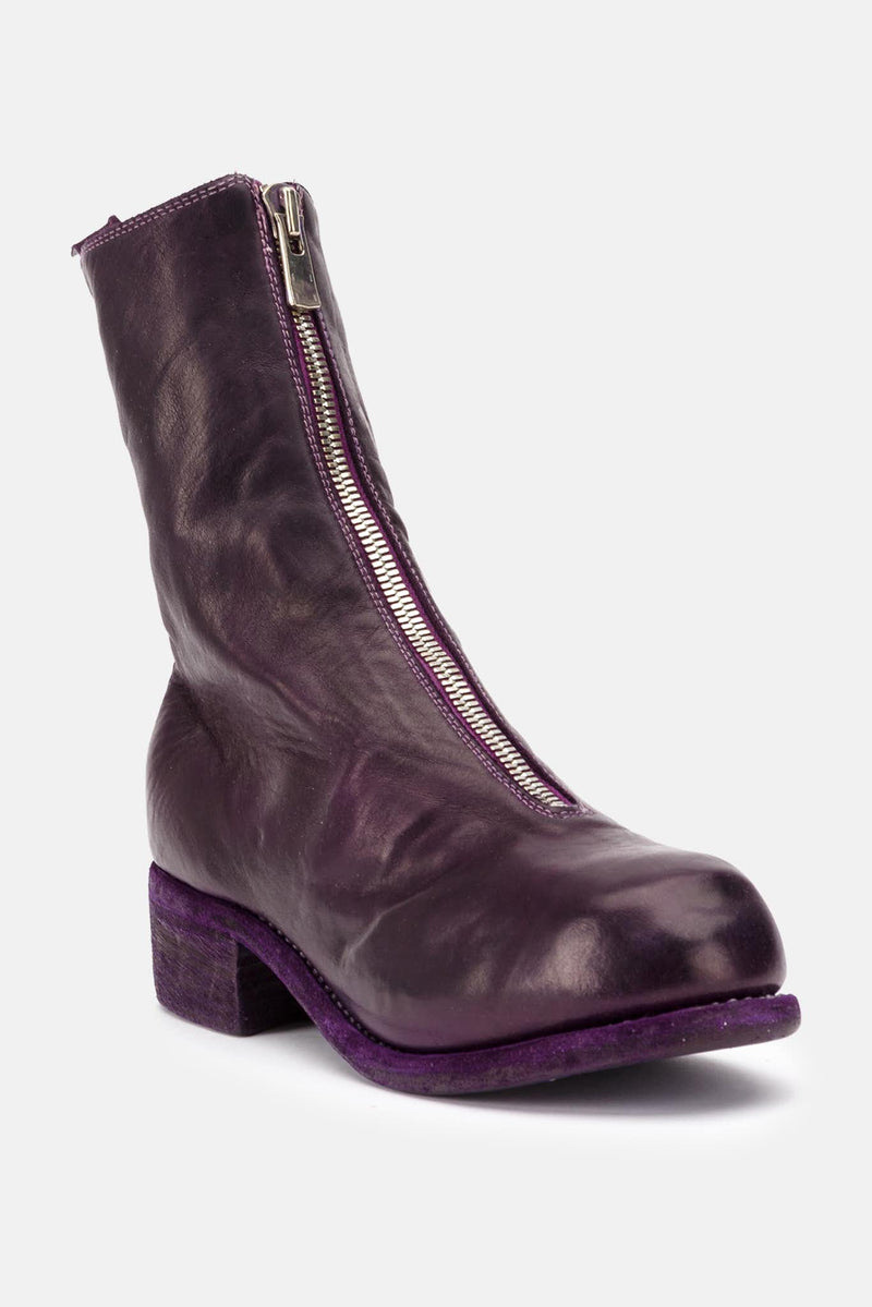 Bottines en cuir violettes Guidi