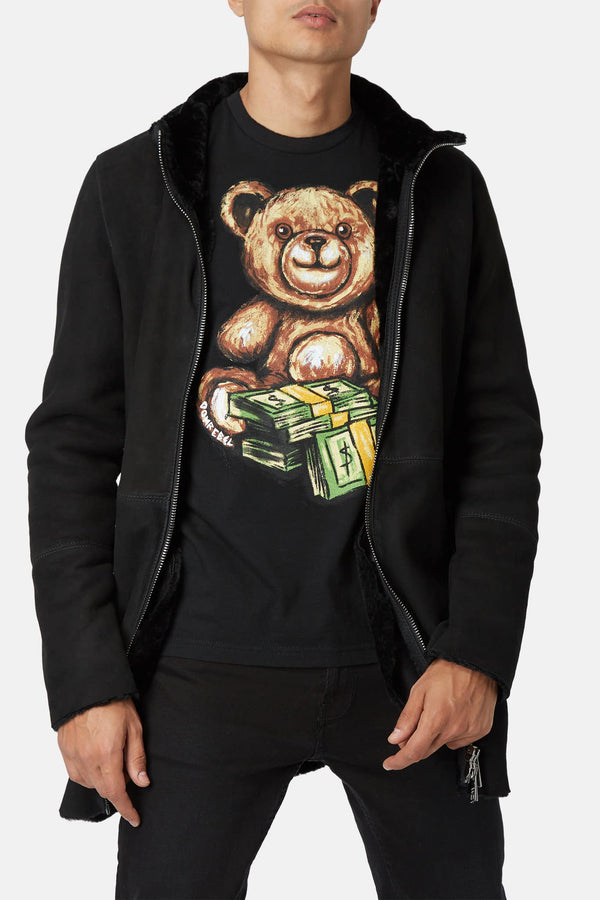 "T-shirt imprimé en coton ""Teddy Money"" Dom Rebel"
