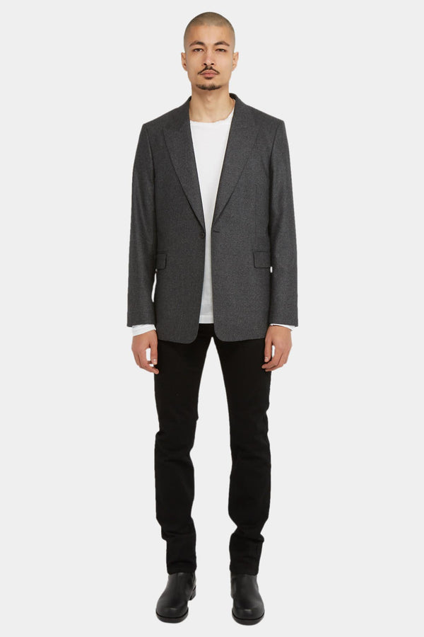 The Row Blazer en laine et cachemire gris The Row