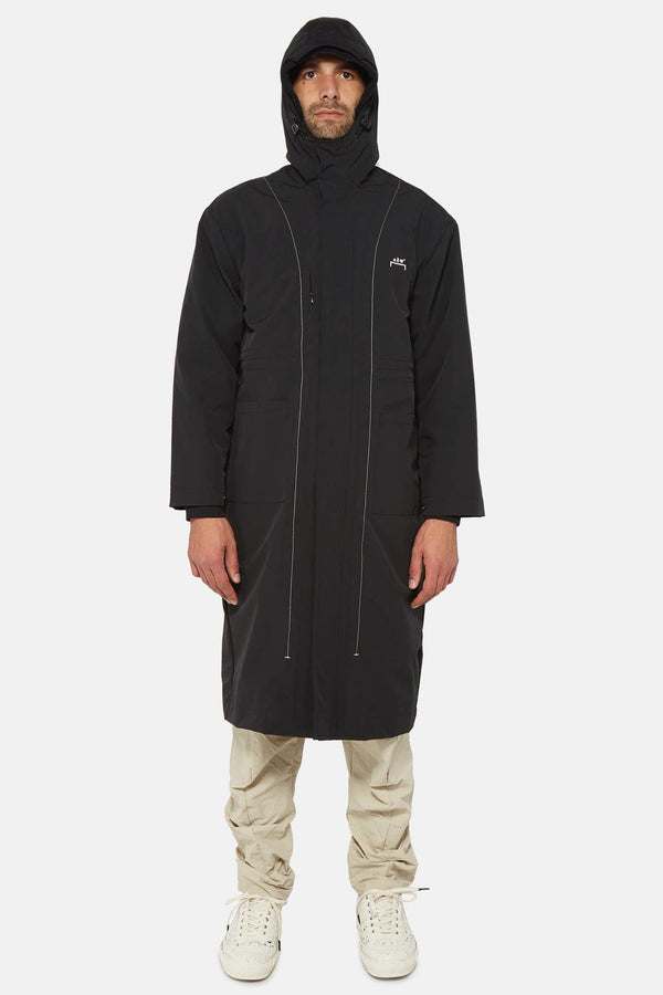 Manteau long en toile de nylon noir A-COLD-WALL*