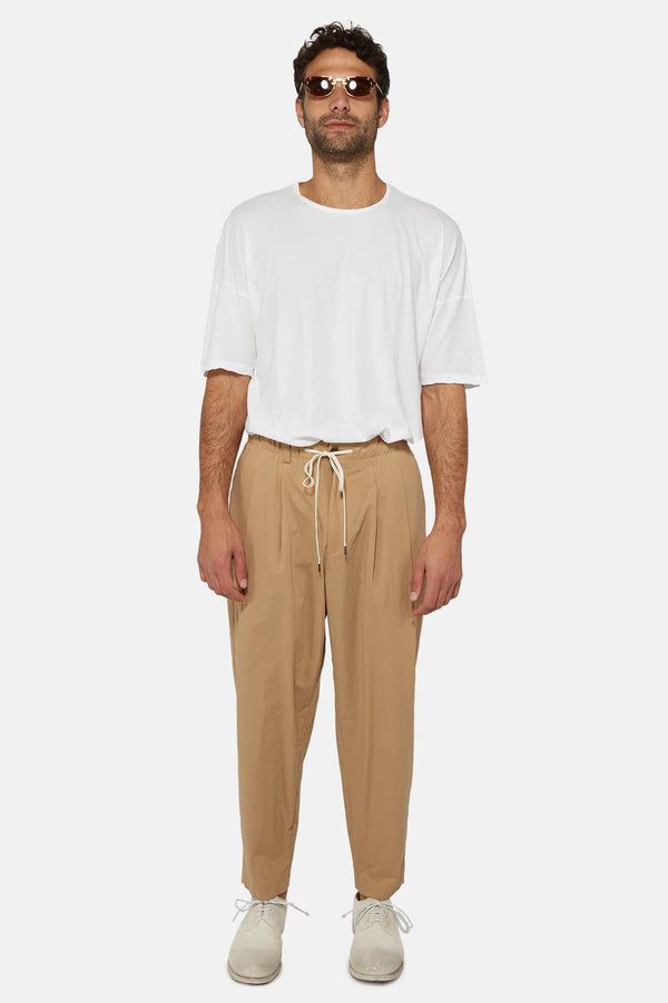 Pantalon sarouel en nylon beige  Attachment