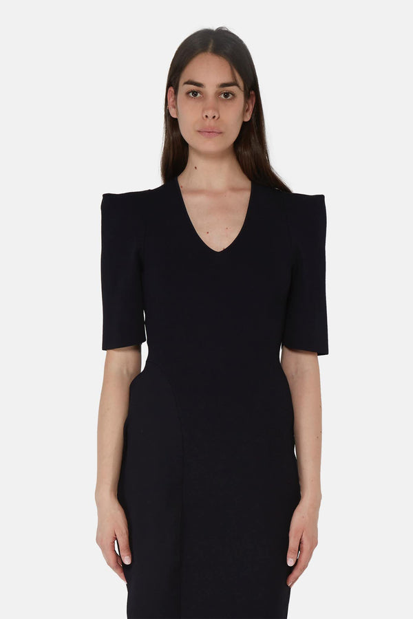 Robe drapée en viscose noir  Stella McCartney