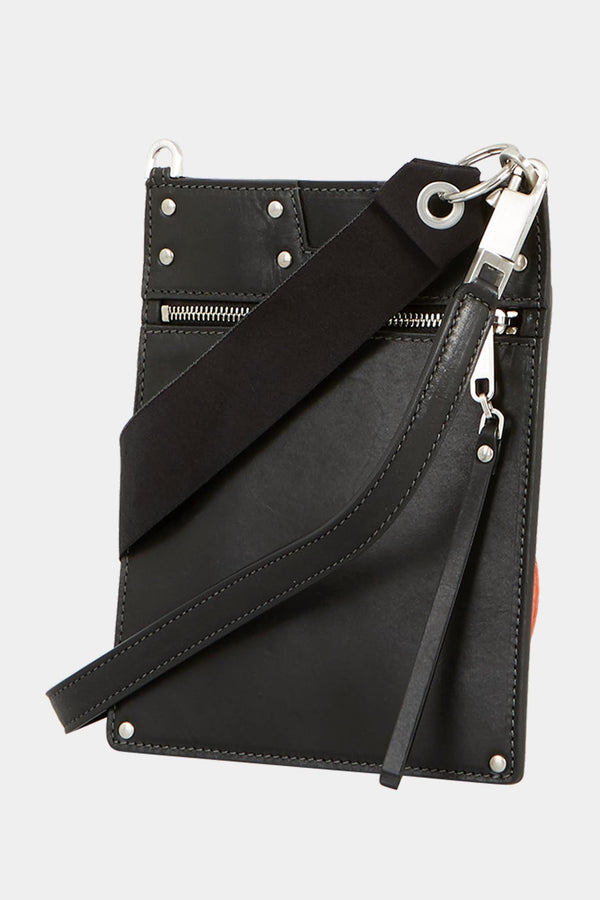 "Sac en cuir noir ""Security Pocket"" Rick Owens"