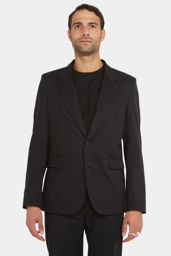 The Row Blazer noir en coton et cachemire The Row
