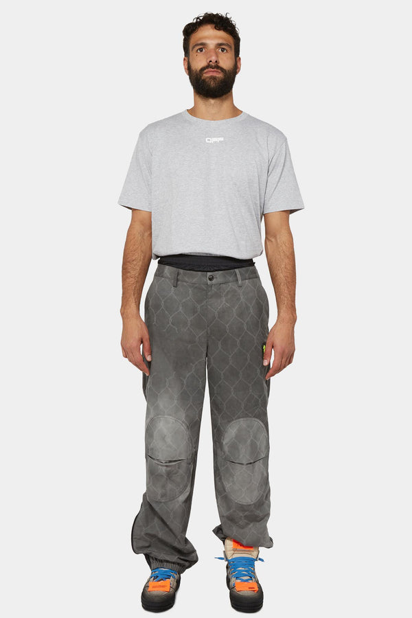 Pantalon droit à motif graphique Off-White