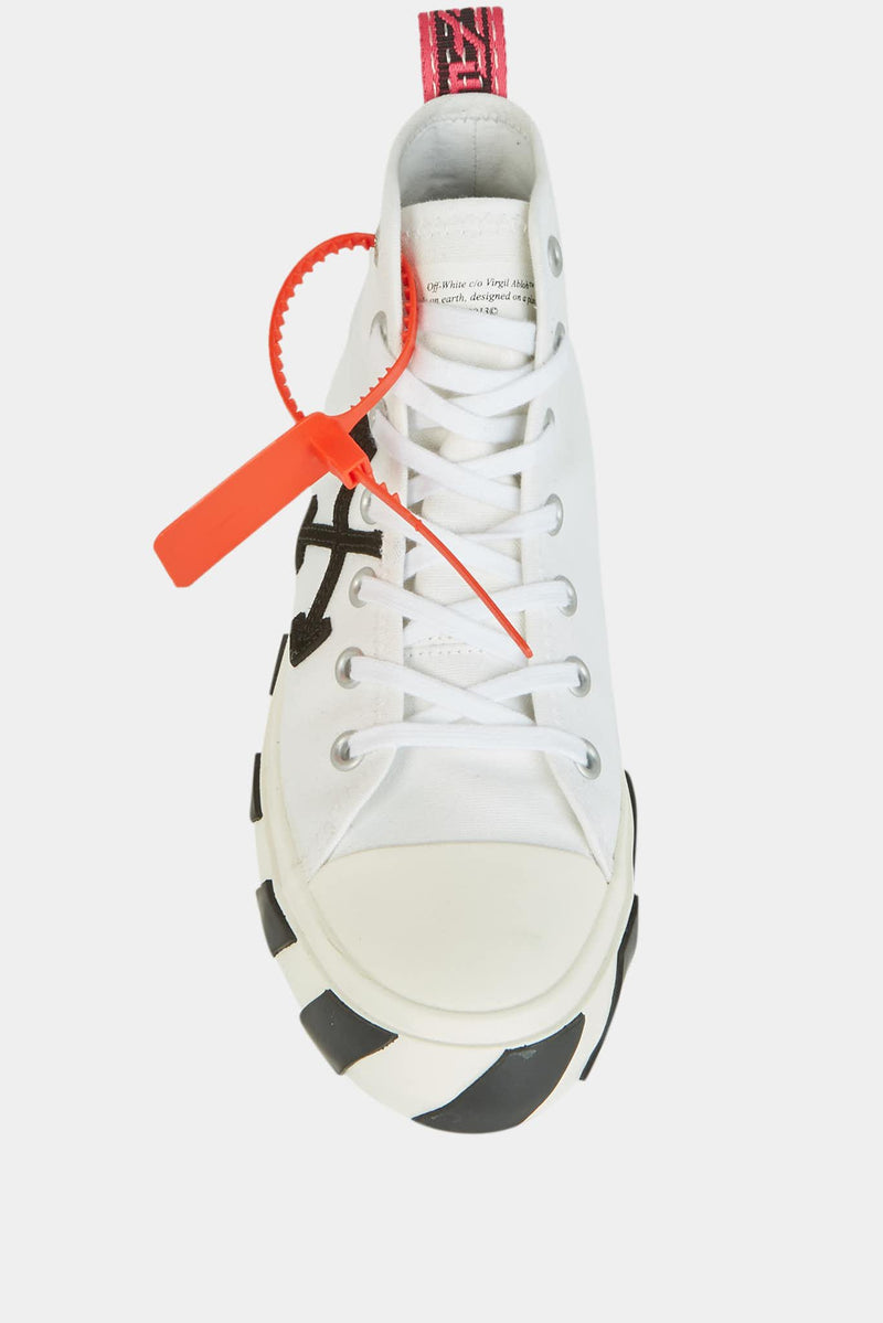 Baskets montantes en toile blanche Off-White
