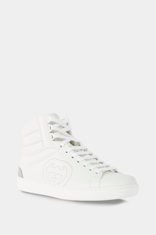 "Baskets en cuir blanc ""Ace"" Gucci"