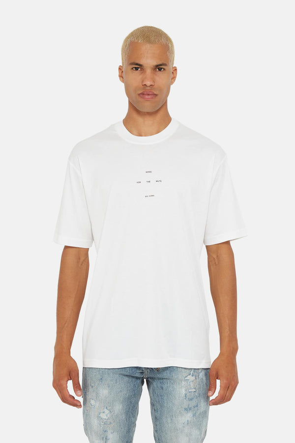 T-shirt oversize en coton blanc  Song for the Mute
