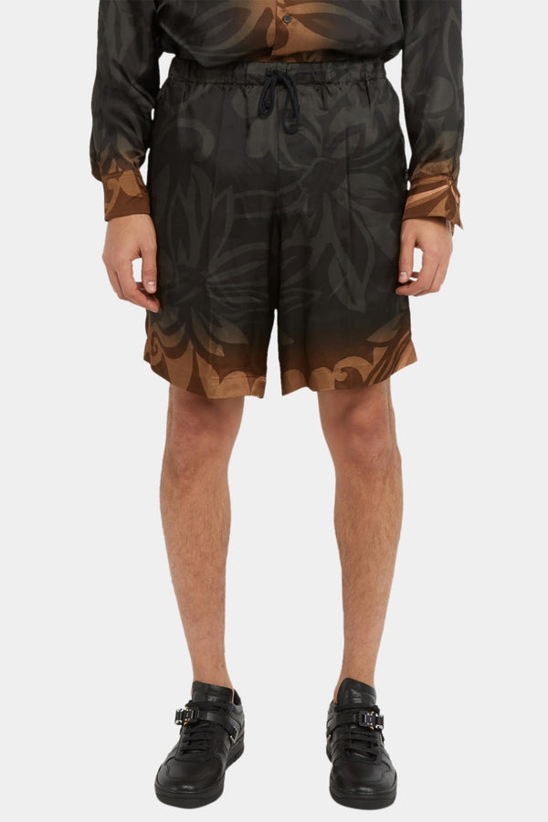 Dries Van Noten Short à imprimé floral noir Dries Van Noten