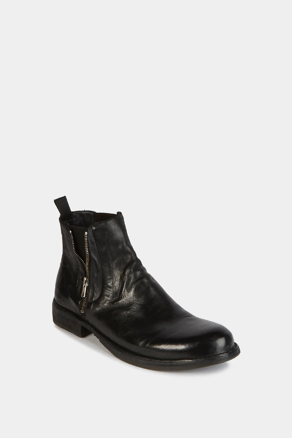 Officine Creative Bottines en cuir noir Officine Creative