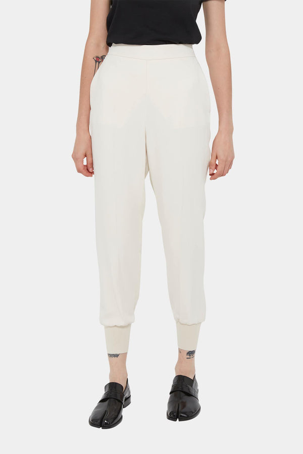 Pantalon décontracté en viscose beige Stella McCartney